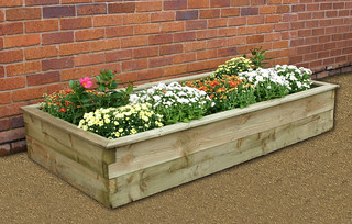 Sleeper Raised Bed 180 x 90 x 30 | by best4garden- wood products
