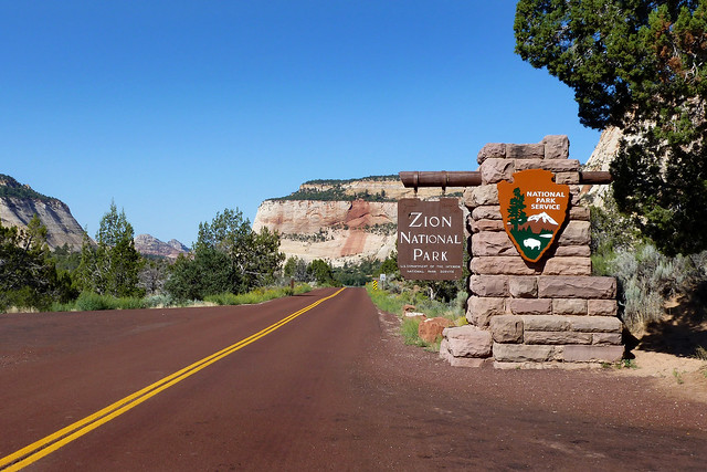 Zion National Park, east entrance - Utah