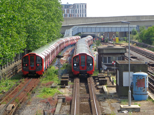 Two Victoria line trains | by diamond geezer