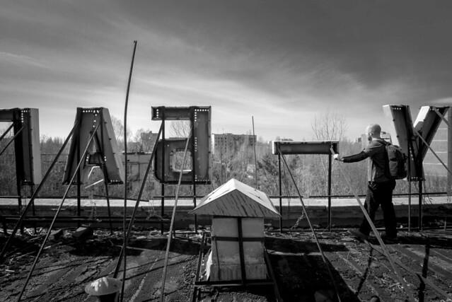 Looking over Pripyat....