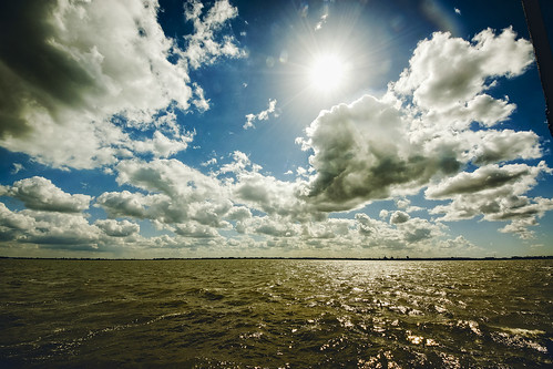 blue sky cloud sun lake reflection water netherlands clouds contrast landscape outdoors waves bright sony nederland wave ripples ijsselmeer 2549faves abigfave sigmaultrawide earthnaturelife wimvandem