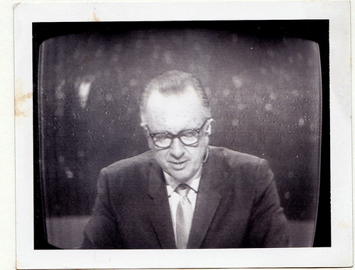 Walter Cronkite - covering Apollo Moon Landing1969, Polaroid off TV | by Charkrem