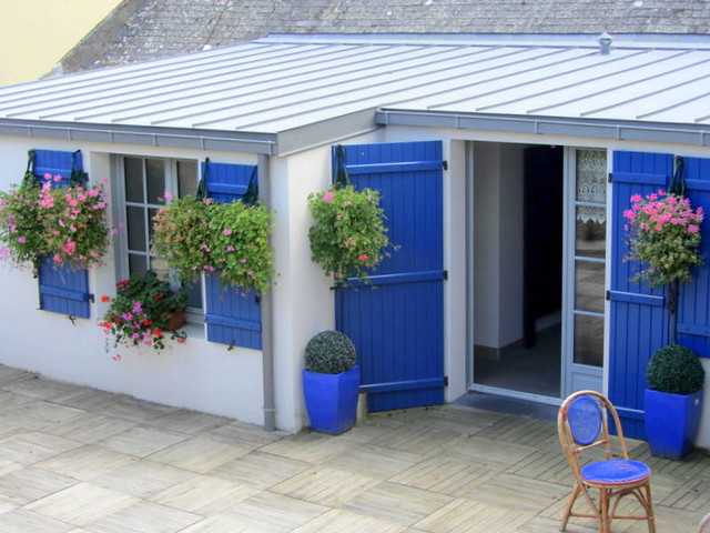 Roof garden in Concarneau