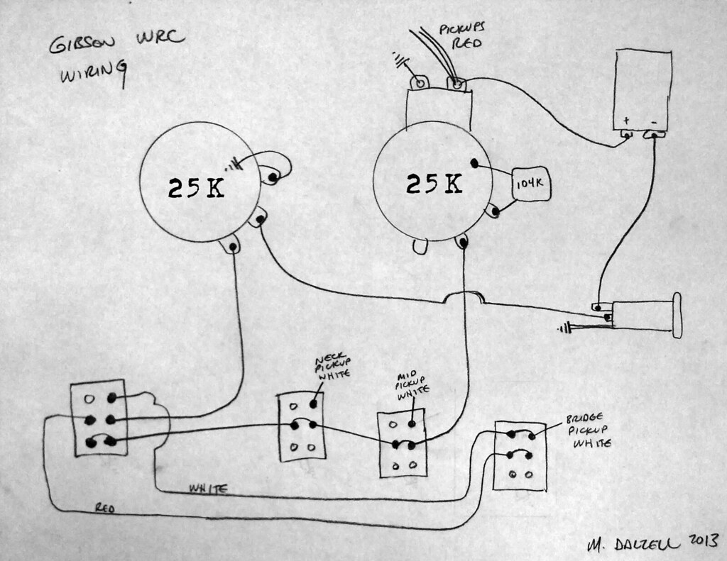 Gibson WRC Wiring Diagram | The WRC features a master volume… | Flickr