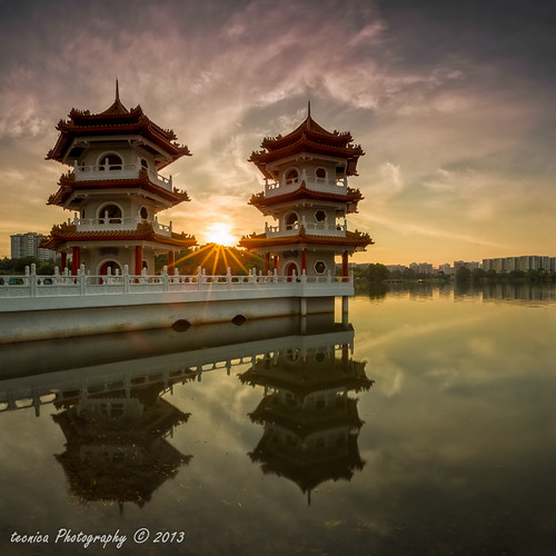 park city sunset urban panorama sun reflection architecture japanesegarden landscapes singapore cityscapes tranquility bluehour chinesegarden jurong hdb tranquil pagodas sunstar urbandwelling exposureblending jurongeast digitalblending