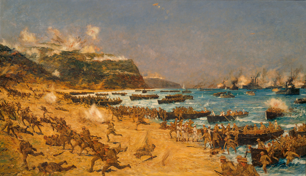 Landing at Gallipoli | New Zealand troops were part of the A… | Flickr
