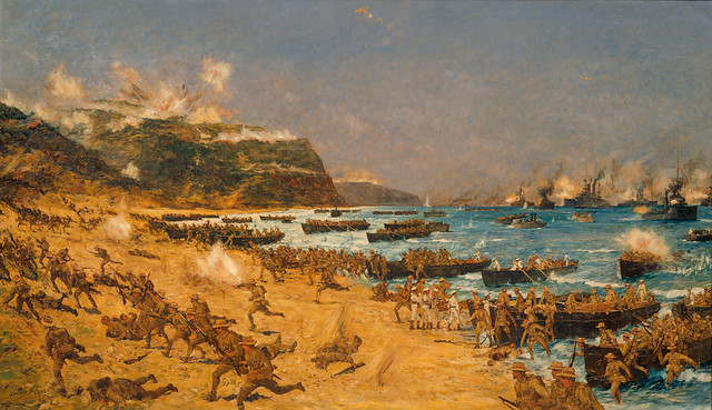 Landing at Gallipoli - Archives New Zealand Te Rua Mahara o te Kāwanatanga