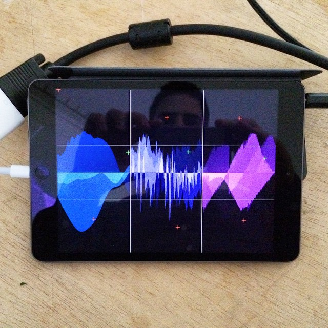 My #iPad #musicapp #avzones before my #performance at #monoshop #neukolln #berlin