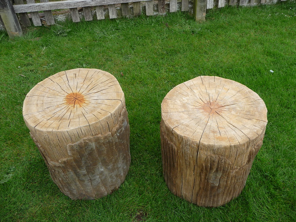 Incredible Faux Bois Stump Stools Hand Made Faux Bois Fake Wood In Camellatalisay Diy Chair Ideas Camellatalisaycom