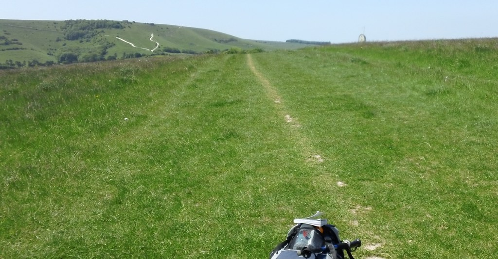 Saturday Walkers Club walk from Lewes to Brighton via Rottingdean, East Sussex '...towards the direction of the V-shaped paths ahead on the Downs,'