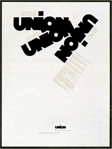 Union Wall Safes | Siegfried Odermatt, advertisment for Unio