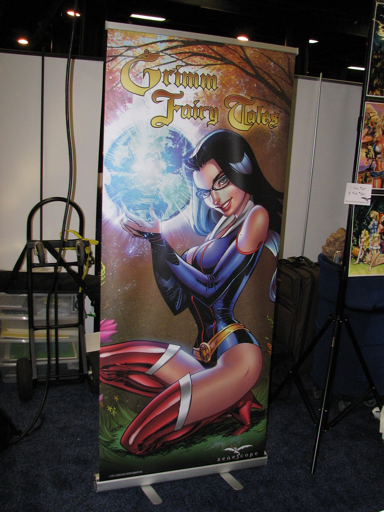 J  Scott Campbell art on a banner at the Zenescope booth | Flickr