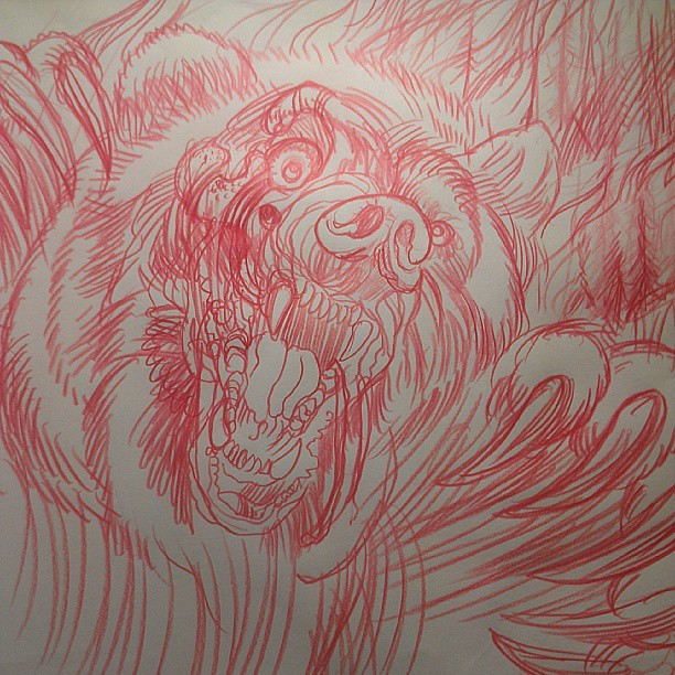 Rough Sketch For Tattoo Later Today Zombie Bear In A Fore Flickr