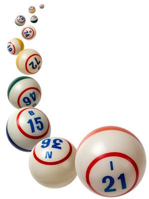 Falling Bingo Balls