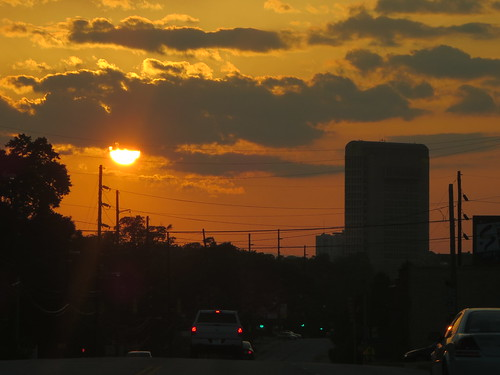 sunset skyline spartanburg