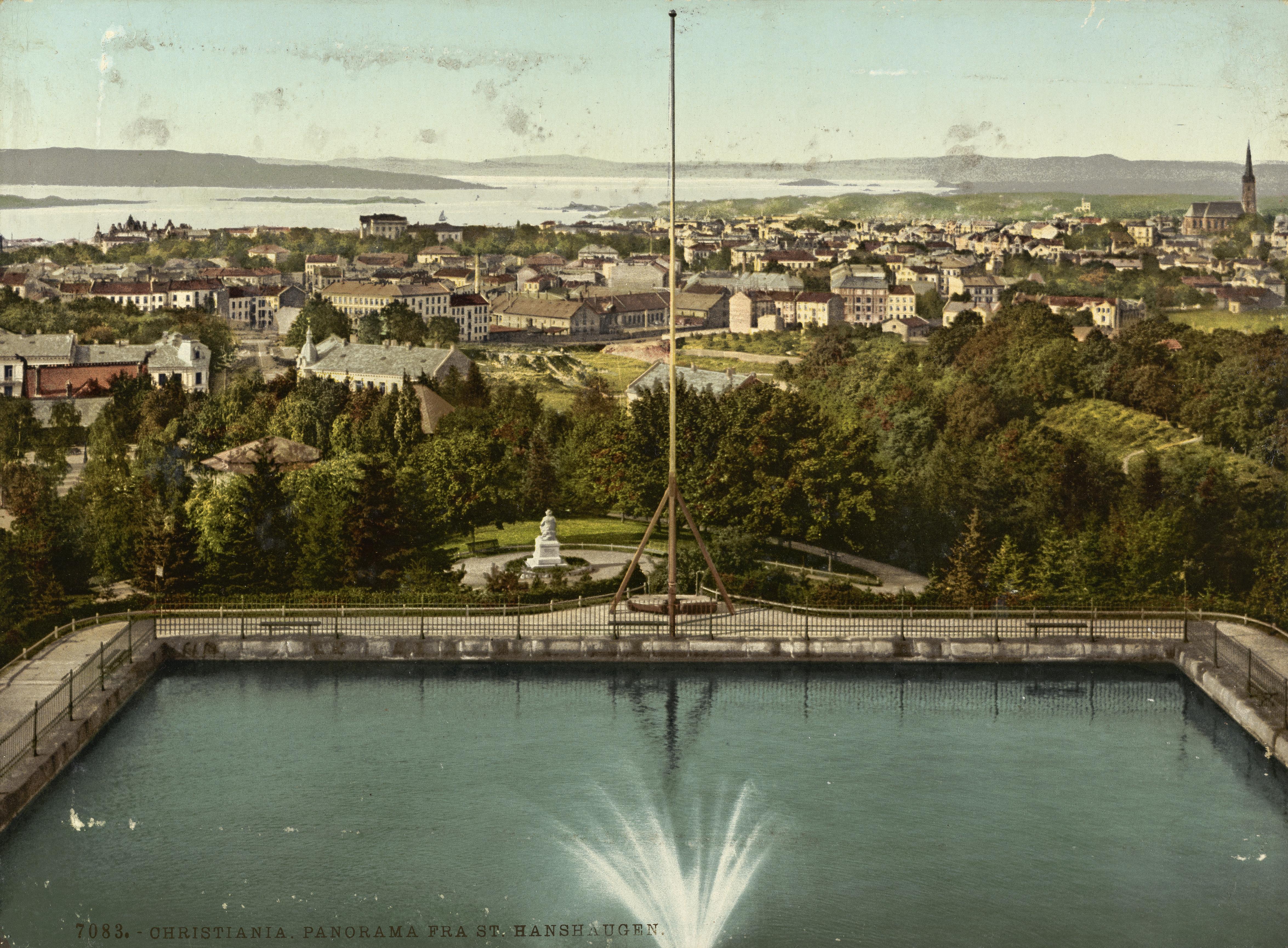 7083. Christiania. Panorama fra St. Hanshaugen