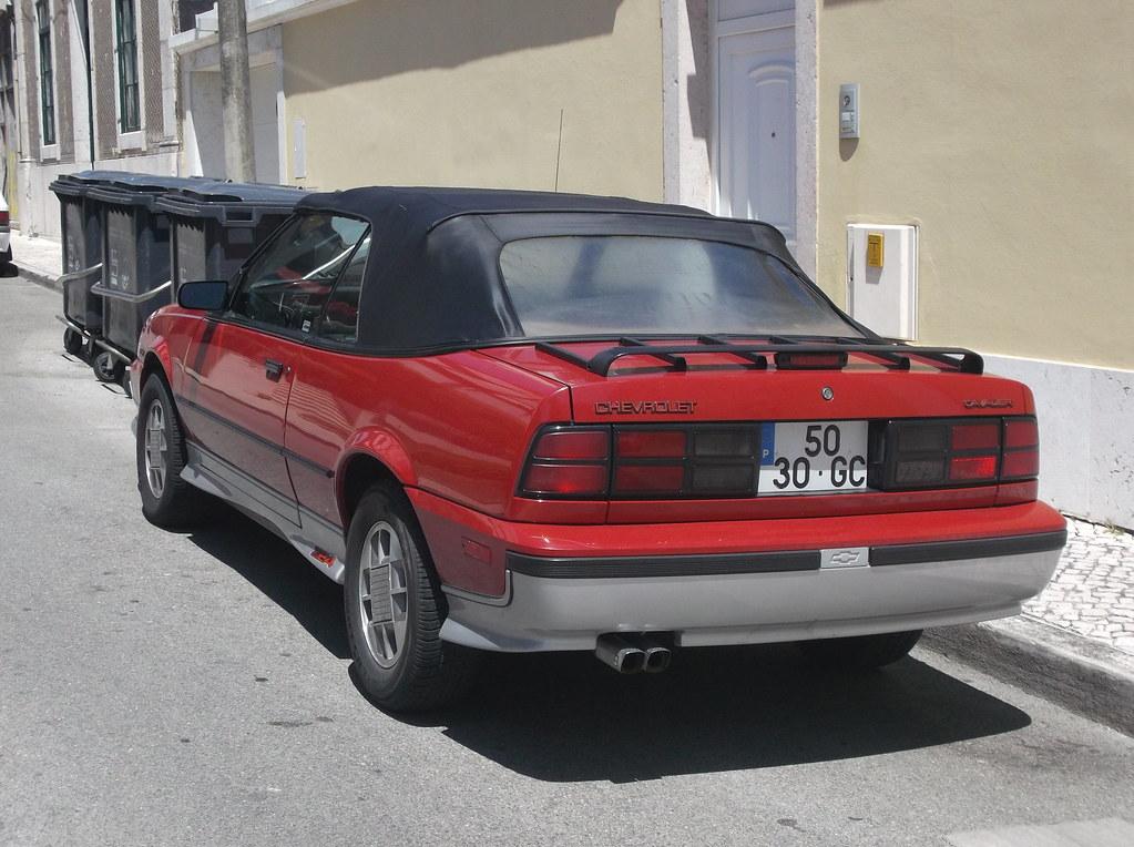 1988 Chevrolet Cavalier Z24 Convertible   Registered in 1996