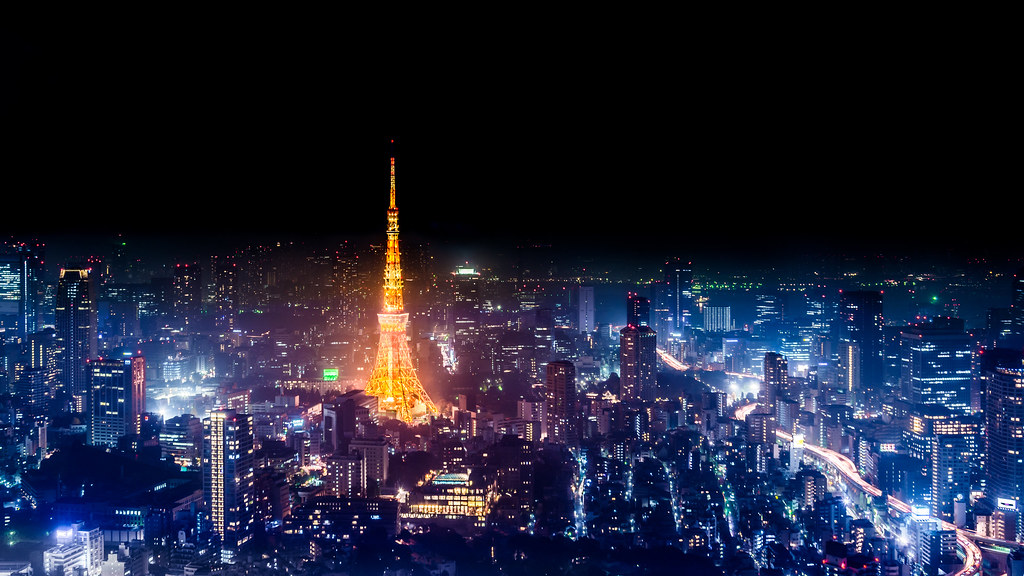 Tokyo Skyline At Night 4k Wallpaper Desktop Background