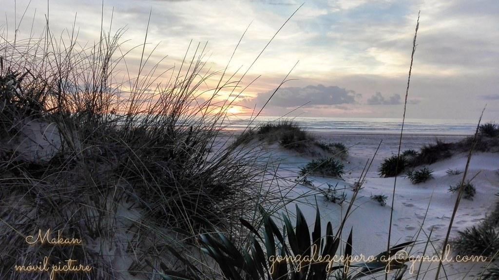 playa de cortadura, Cádiz.foto con móvil