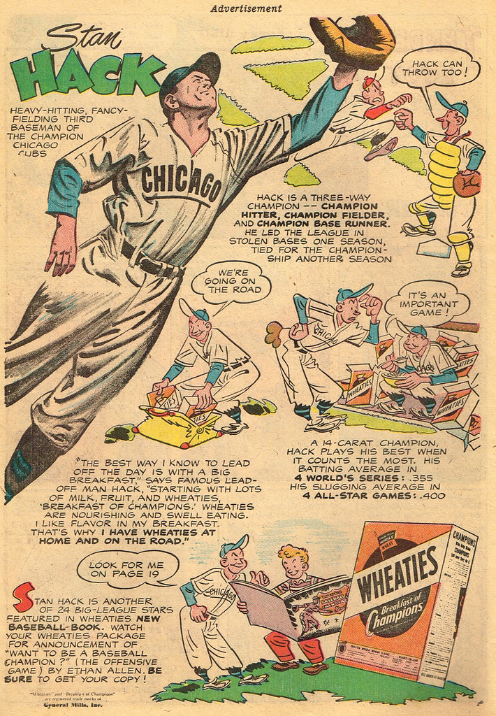 Vintage Ad: Wheaties profiles Stan Hack | Source: Funny Stuf… | Flickr