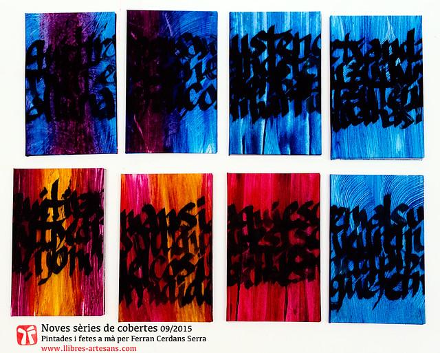 Cobertes artesanes, poemaris manuscrit, Llibres artesans, Ferran Cerdans Serra, 2016