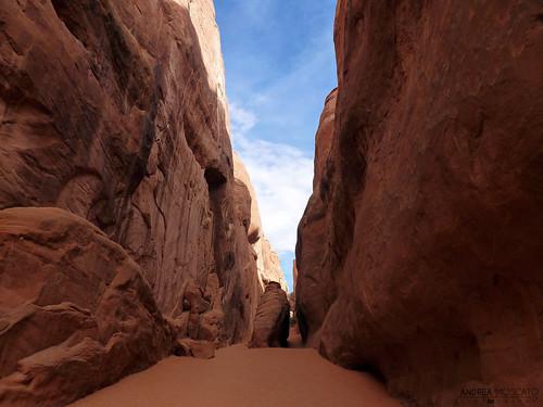 light shadow red sky parco usa nature rock america us sand unitedstates ombra natura cielo np sentiero sabbia statiuniti naturale andreamoscato
