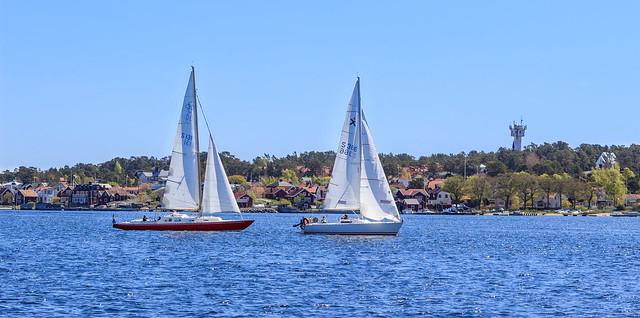 A sunny day in Sandhamn, Stockholm archipelago