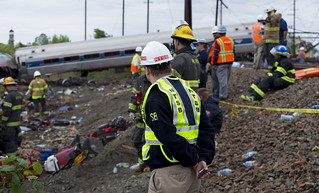 Member Robert Sumwalt on the scene of the Amtrak Train #188 Derailment in Philadelphia, PA | by NTSBgov