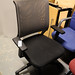 Black and grey mesh office chair