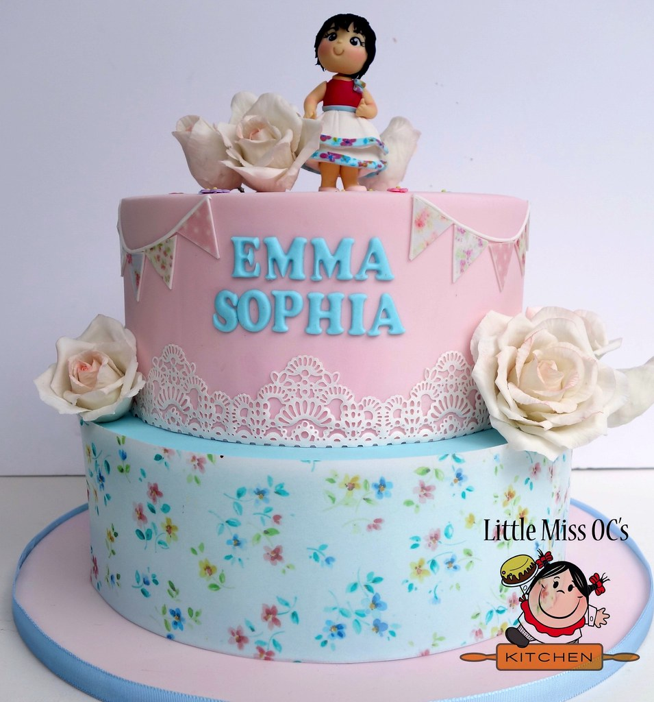 Amazing Shabby Chic Birthday Cake Little Miss Ocs Kitchen Flickr Birthday Cards Printable Inklcafe Filternl