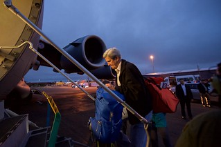 Secretary Kerry Boards a C-17 Cargo Plane to Antarctica