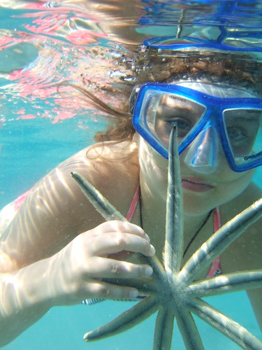 Amanda with a 9 armed starfish