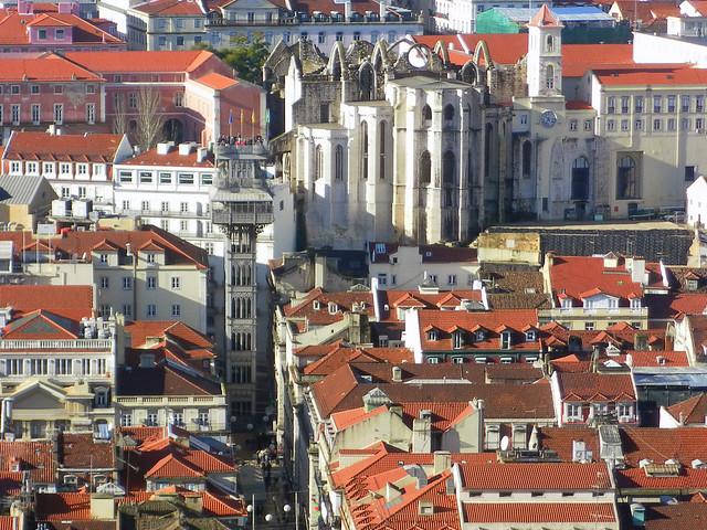 Elevador de Santa Justa,  Convento da Ordem do Carmo - Lisbon, Portugal