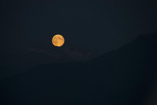 Alpine moon bite 21 August 2013
