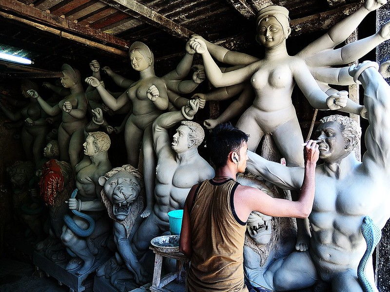 ~ clay works, kumartuli ~
