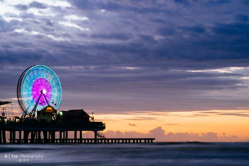 park sky galveston macro beach wheel sunrise lens island 1 amusement pier long exposure texas fuji ferris x r pro fujifilm 60mm fujinon pleasure xf f24 xpro1