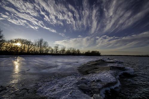 trees winter sunset lake snow ny newyork ice dan nature water sunshine clouds landscape outside outdoors day sundown scenic greece lakeontario rochesterny monroecounty dangler dandangler