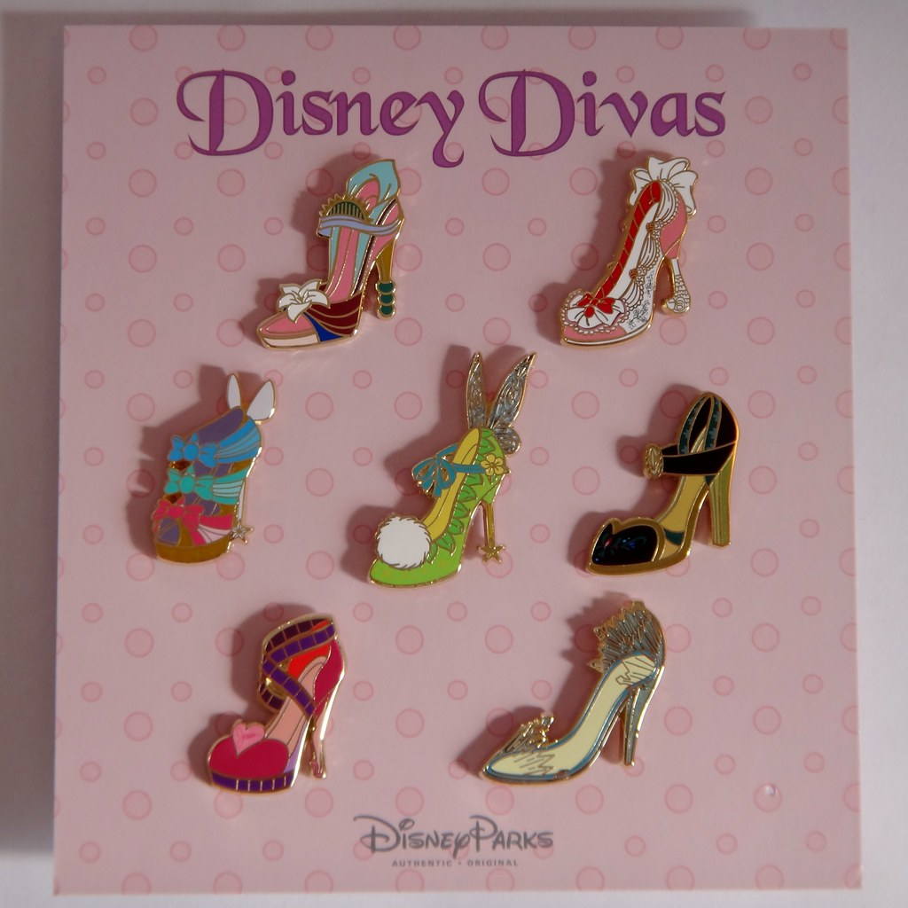Disney Divas Shoes Mini Pin Set Disneyland Purchase 20