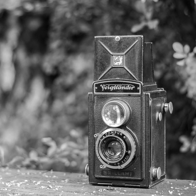 Voigtlander Brillant, lens Skopar 4,5/75mm