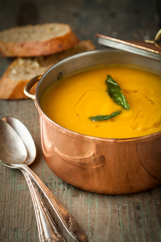 Butternut Squash Soup with Sage (vegan and gluten-free) | by WillCookForFriends