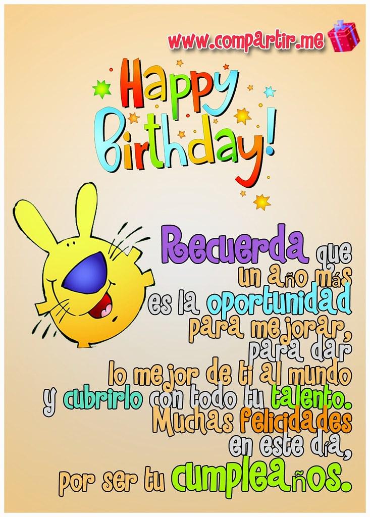 Frases De Amor Postal De Happy Birthday Con Frase De Much