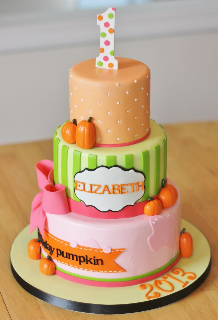 Phenomenal Pumpkin 1St Birthday Cake Halloween Themed 1St Birthday Ca Flickr Personalised Birthday Cards Beptaeletsinfo