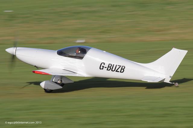 G-BUZB - 1993 build Aero Designs Pulsar XP, departing Barton for a flight to Gloucester Staverton