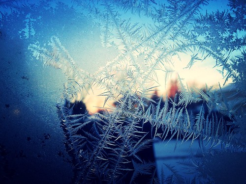 ice window sunrise frost crystals crystal