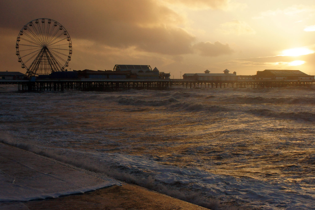 Sunset, Blackpool Central Pier, Lancashire