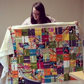 #BoiseMQG Sew Day - Lindsie shared a quilt being made by her youth group  @lindsiebergevin