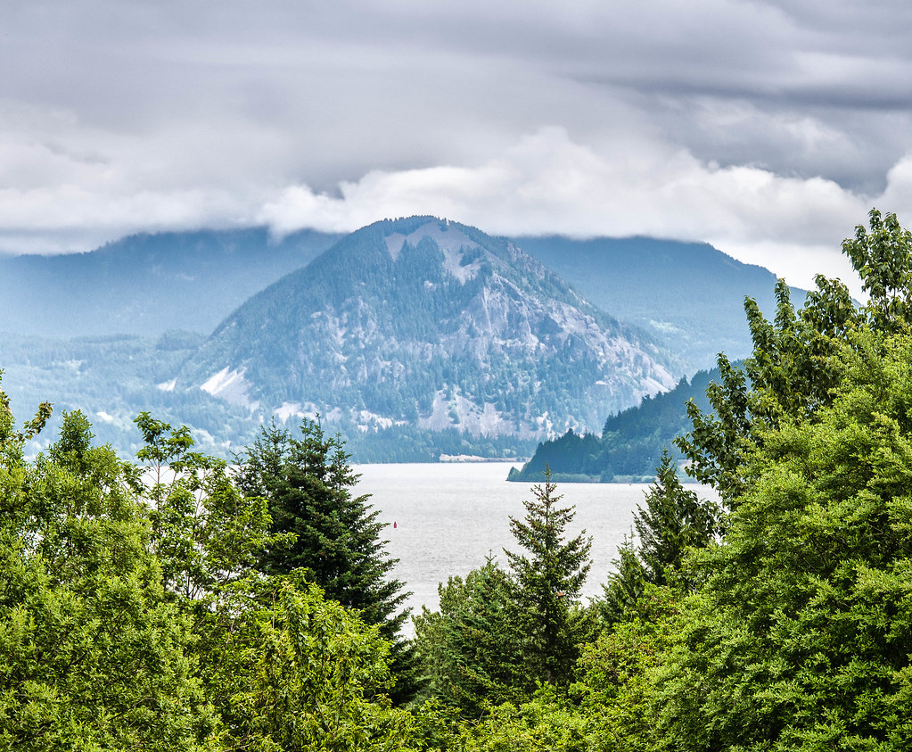 Looking east along the Columbia River