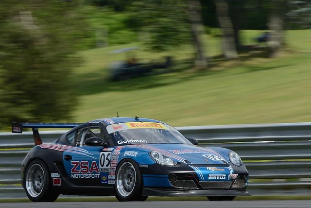 Number 05 ZSA Motorsport Porsche Cayman S (GTS) driven by Steve Goldman
