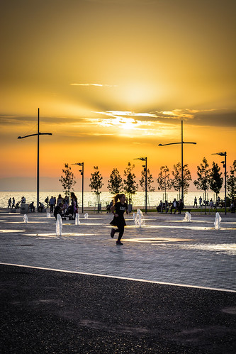 hellas thessaloniki nea paralia water sky street sun sunset scenery sunrise sea skymood nature nikon d5200 colour city colourful clouds people pavement fountain makedonia view outdoor landscape light macedoniagreece timeless macedonian μακεδονια
