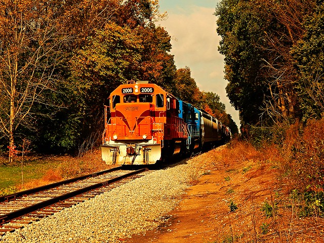 South Shore freight near Stillwell Indiana
